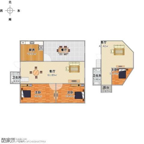 盘溪新村3室3厅2卫1厨311.00㎡户型图