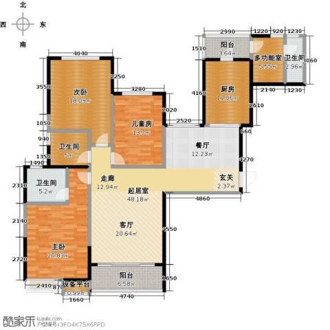恒大御景湾3室0厅3卫1厨159.00㎡户型图