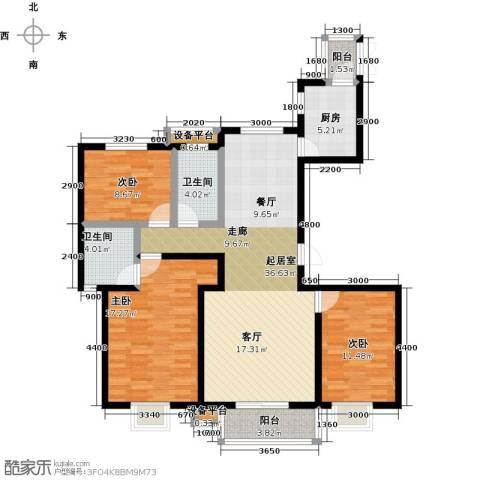 上上城理想新城3室0厅2卫1厨137.00㎡户型图