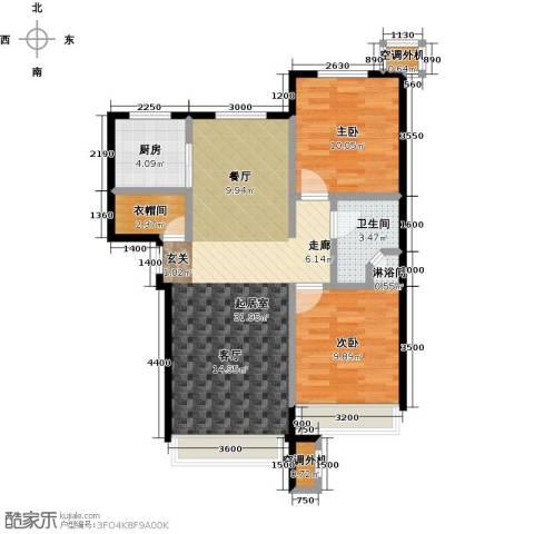 保利罗兰香谷二期2室0厅1卫1厨90.00㎡户型图