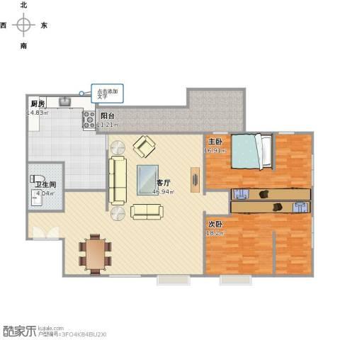 曼景兰古城2室1厅1卫1厨150.00㎡户型图