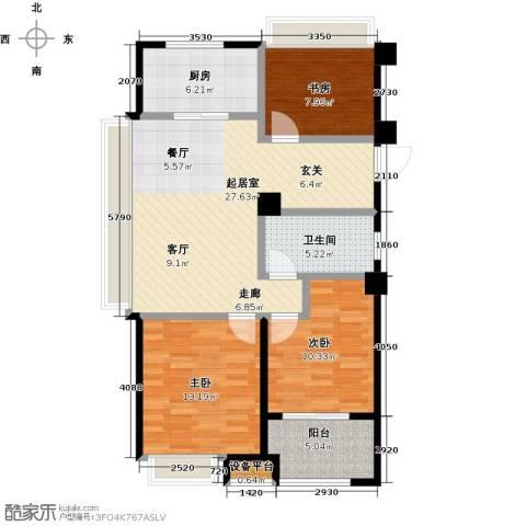 交通紫园3室0厅1卫1厨87.00㎡户型图
