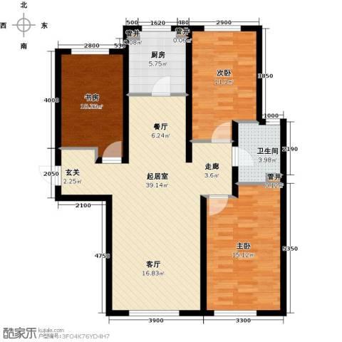 富力城3室0厅1卫1厨112.00㎡户型图