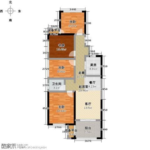 新城悠活城4室0厅1卫1厨105.00㎡户型图