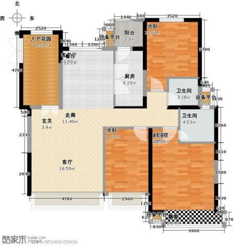 禧福・荷堂2室1厅2卫1厨132.00㎡户型图