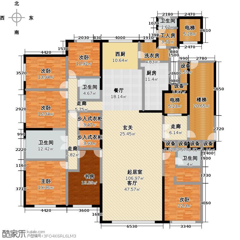 紫辰院户型6室4卫1厨