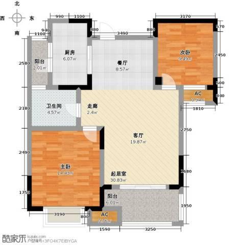 三金燕语庭2室0厅1卫1厨86.00㎡户型图