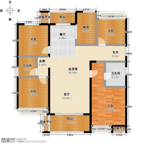 交通紫园4室0厅2卫1厨136.00㎡户型图