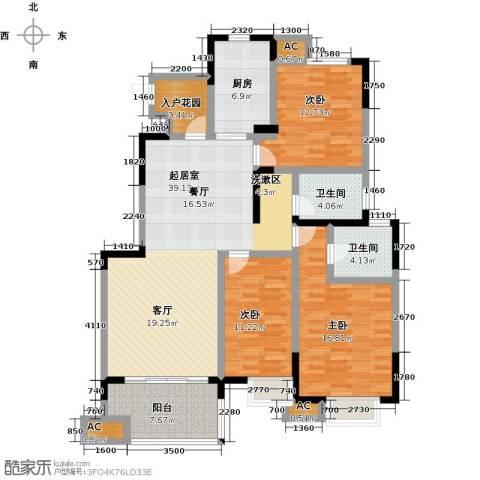 三金燕语庭3室0厅2卫1厨126.00㎡户型图
