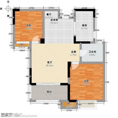 三金燕语庭2室0厅1卫1厨88.00㎡户型图