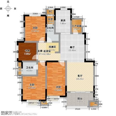 三金燕语庭4室0厅2卫1厨142.00㎡户型图