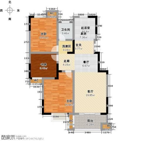 三金燕语庭3室0厅1卫0厨108.00㎡户型图