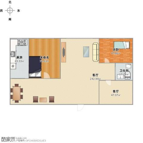 上台花园1室2厅1卫1厨607.00㎡户型图