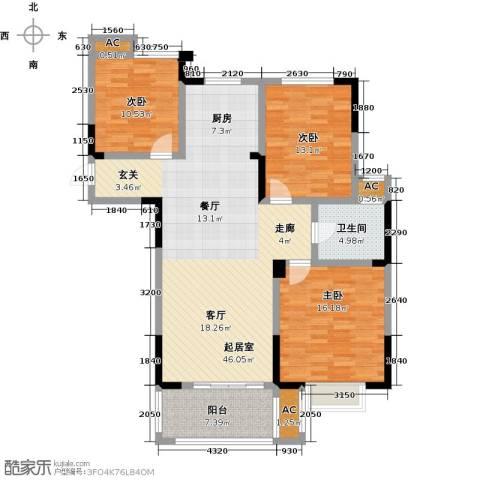 三金燕语庭3室0厅1卫0厨111.00㎡户型图
