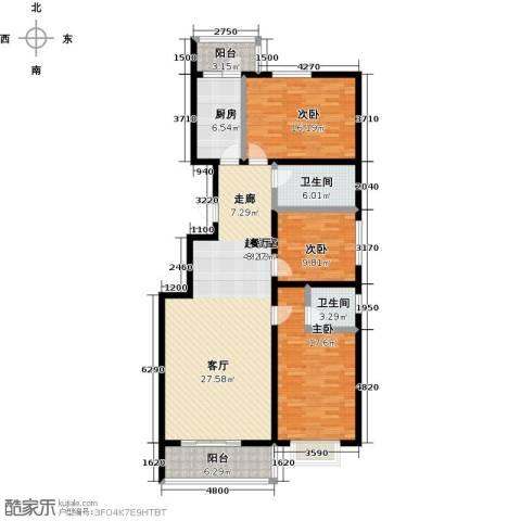 聚富未来城3室0厅2卫1厨128.00㎡户型图