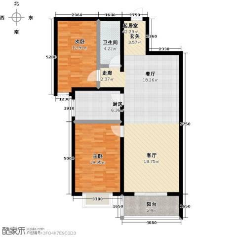 聚富未来城2室0厅1卫1厨99.00㎡户型图