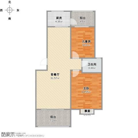 维也纳花园2室1厅1卫1厨102.00㎡户型图