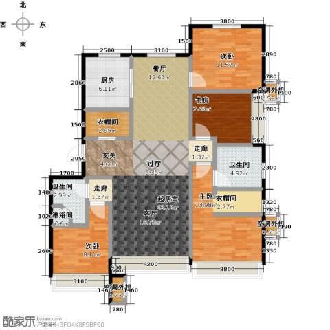 保利罗兰香谷二期4室0厅2卫1厨137.00㎡户型图