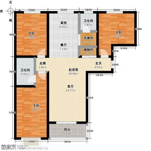聚富未来城3室0厅2卫0厨150.00㎡户型图
