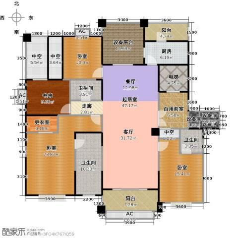 昆玉府1室0厅3卫1厨201.00㎡户型图