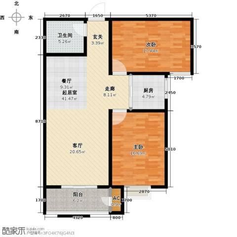 久新名苑2室0厅1卫1厨129.00㎡户型图