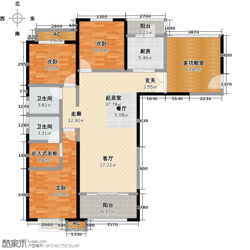 黄河明珠LL户型3室2卫1厨
