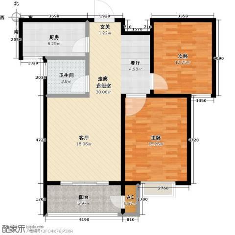 久新名苑2室0厅1卫1厨105.00㎡户型图