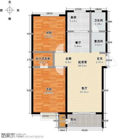 久新名苑2室0厅1卫1厨126.00㎡户型图