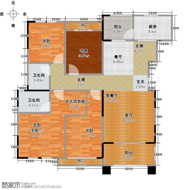 昌建星悦城b2户型4室2厅2卫