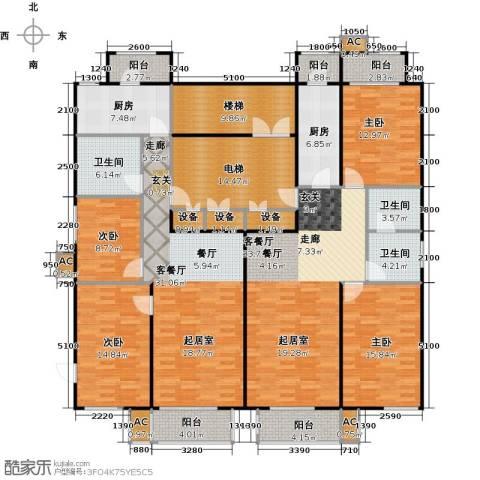 吉利经典4室2厅3卫2厨260.00㎡户型图