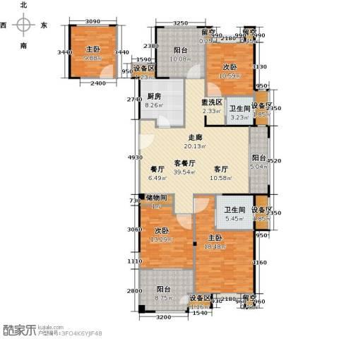 路劲城市主场4室1厅2卫1厨140.99㎡户型图