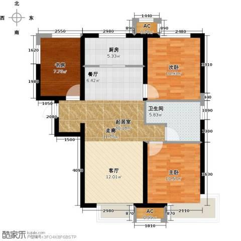 泰禾・拾景园3室0厅1卫1厨103.00㎡户型图