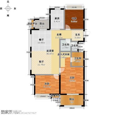 交通紫园3室0厅3卫1厨115.00㎡户型图