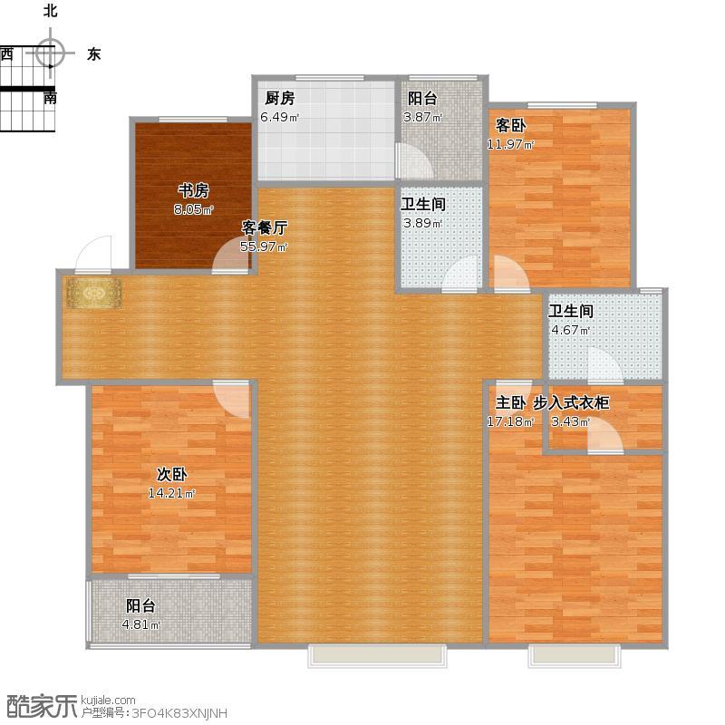 四室两厅两卫181.67㎡