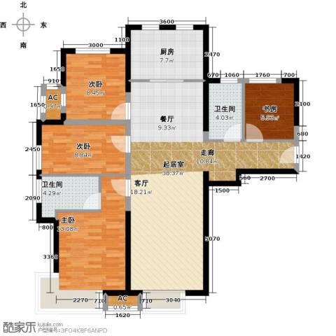 泰禾・拾景园4室0厅2卫1厨132.00㎡户型图