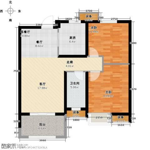 徐州华润绿地・凯旋门2室1厅1卫1厨109.00㎡户型图