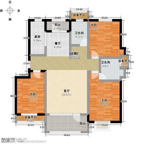 碧桂园欧洲城3室0厅2卫1厨124.00㎡户型图