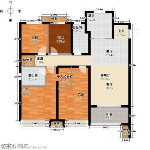 徐州华润绿地・凯旋门4室1厅2卫1厨172.00㎡户型图