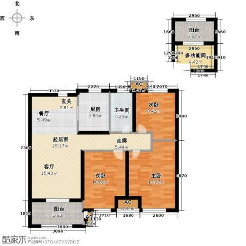 华润・橡树湾3室0厅1卫1厨119.00㎡户型图