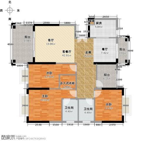 龙光・水悦龙湾3室1厅2卫1厨153.00㎡户型图
