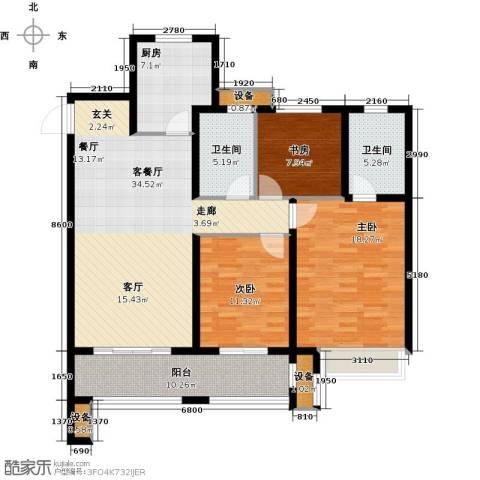 徐州华润绿地・凯旋门3室1厅2卫1厨146.00㎡户型图