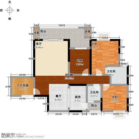长欣中央广场3室0厅2卫1厨149.00㎡户型图