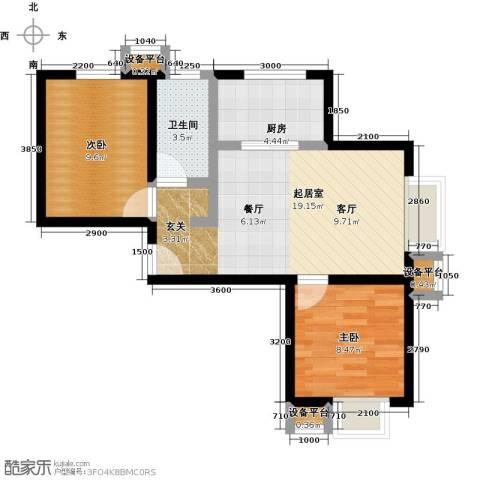 上上城理想新城2室0厅1卫1厨69.00㎡户型图