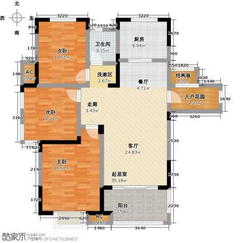三金燕语庭3室0厅1卫1厨113.00㎡户型图