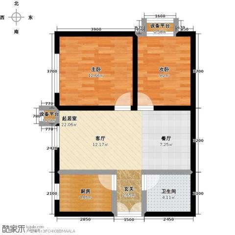 上上城理想新城2室0厅1卫1厨79.00㎡户型图