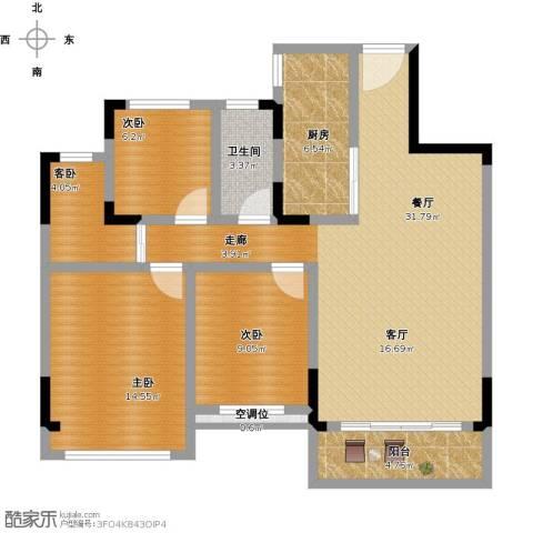 锦绣新天地4室1厅1卫1厨118.00㎡户型图