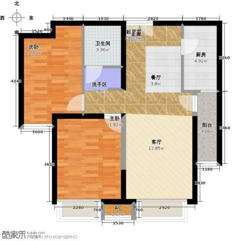 泰禾・拾景园2室0厅1卫1厨92.00㎡户型图
