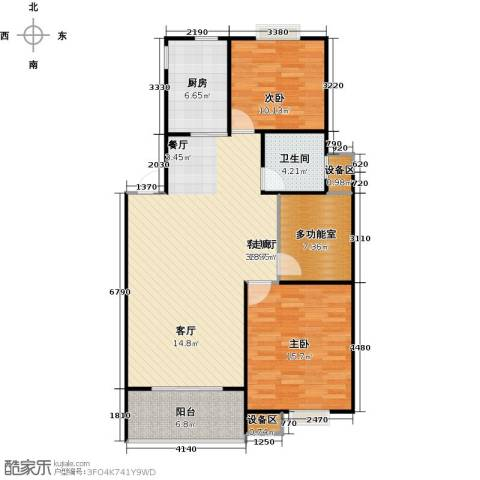 格林春天2室1厅1卫1厨120.00㎡户型图