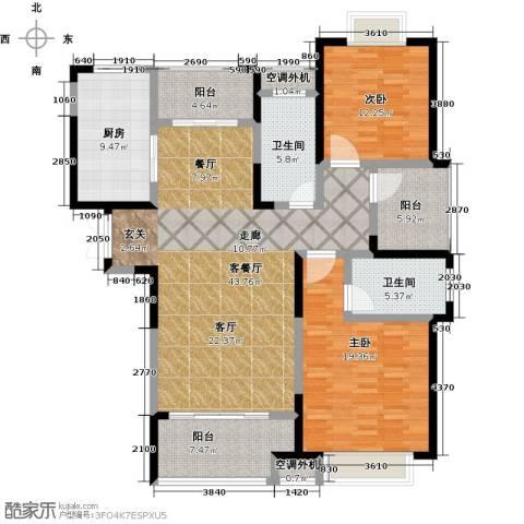 天鸿・尹山湖韵佳苑2室1厅2卫1厨166.00㎡户型图