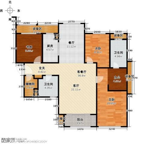 华润公元九里-九里公馆3室1厅2卫1厨157.00㎡户型图